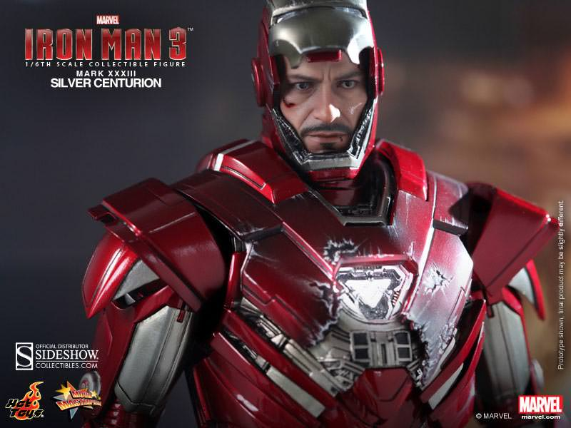 Movie Masterpiece Iron Man Silver Centurion Mark 33 Sixth Scale Figure By Hot Toys In Stock