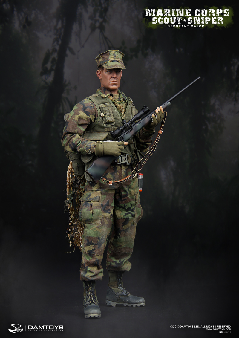 dam toys marine corps scout sniper sergeant major 16