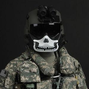 1//6 Scale TOY US ARMY Pilot//Aircrew HGU-56//P custom skull Maxillofacial Shield