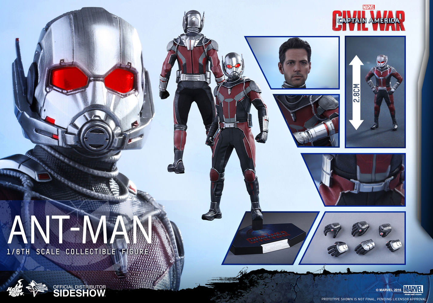 Ant-Man Hot Toys Captain America: Civil War - Movie Masterpiece Series  mms362 1/6