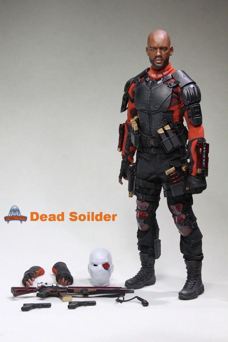 1\6 scale  Will Smith head Suicide Squad--Deadshot