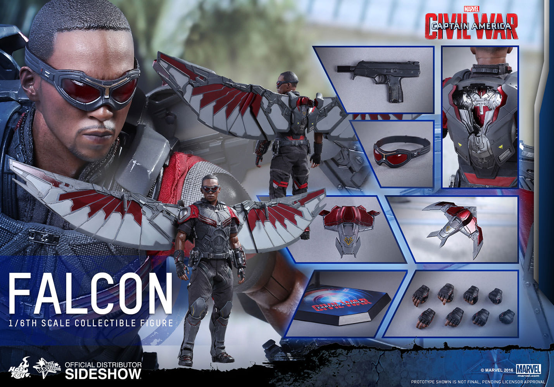 Falcon 1/6 Hot Toys Captain America Civil War Movie Masterpiece Series  mms361