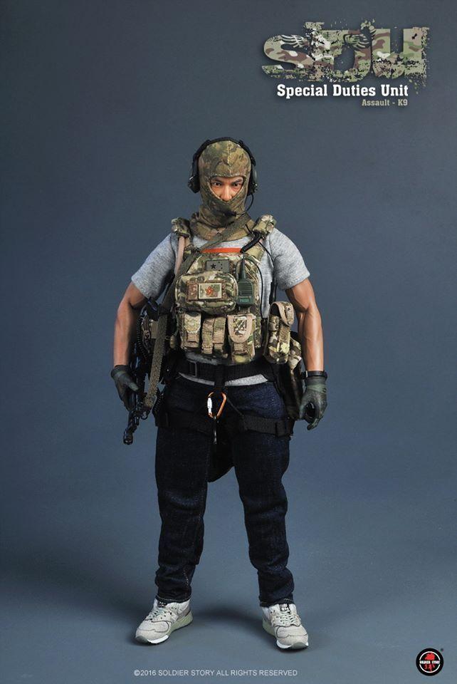 1//6 Scale Toy Special Air Service-Noir GSG9 assault vest