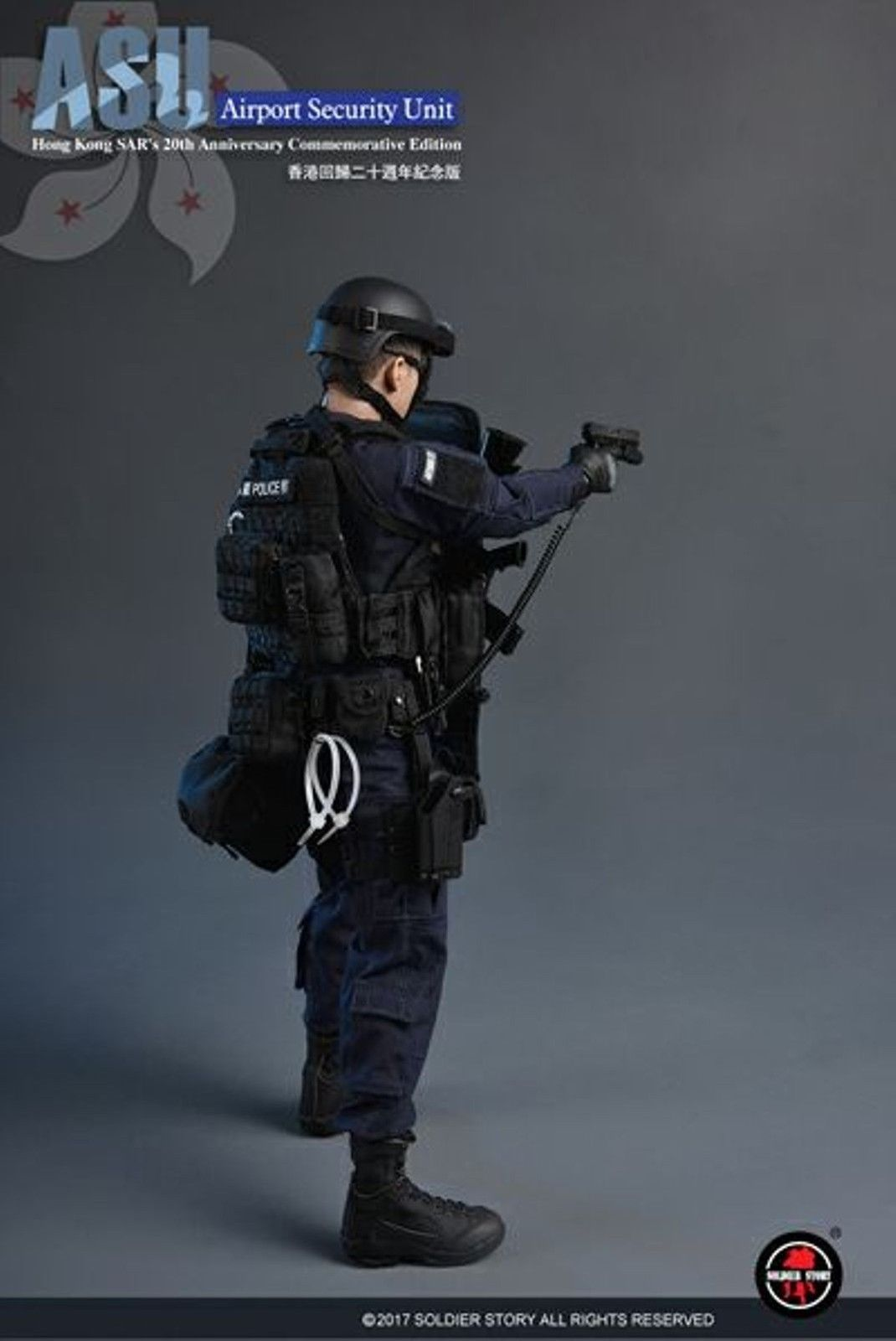1//6 Scale Soldier Story SS103 HK Airport Security Unit ASU goggle w//helmet