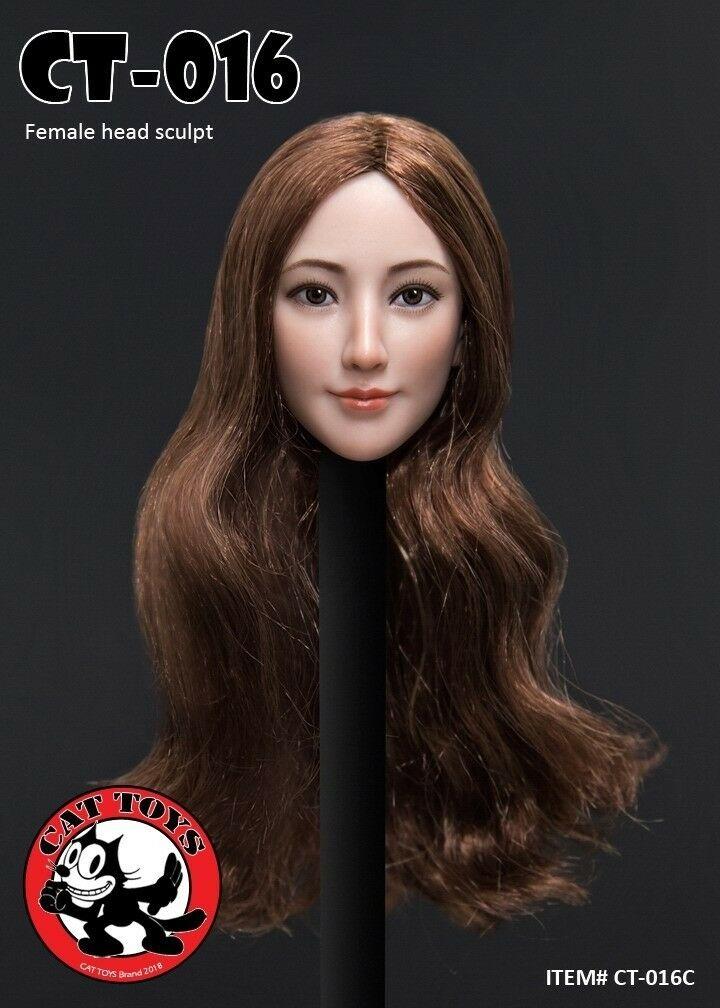ZC TOYS 1/6 Scale Beauty Female Black Long Curly Head