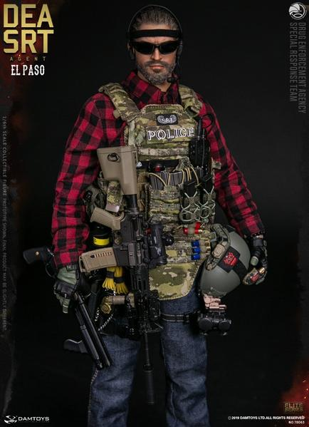 1//6 Scale Damtoys Action Figures Flash Bang Grenades /& Pouch DEA SRT El Paso