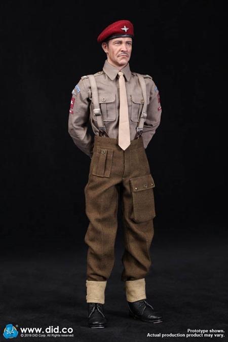 K80135 1//6 SECONDA GUERRA MONDIALE DID British Airborne Red Devil Commander Figura Roy Berretto Bordeaux