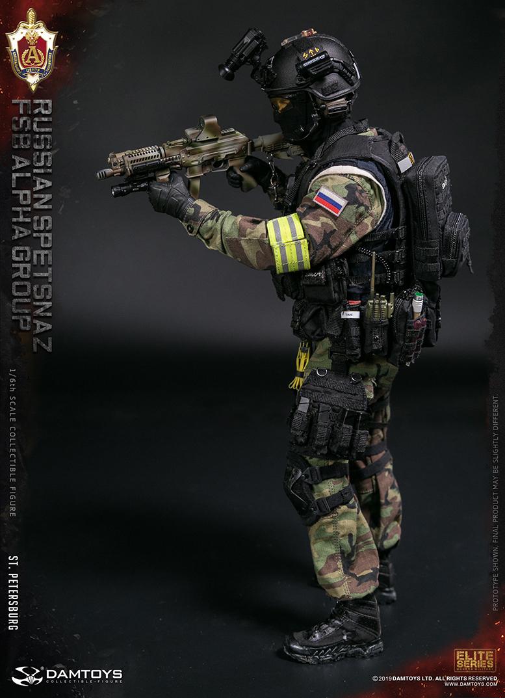Details about  /DAMTOYS 78071 Russia Alfa Squadron 1//6 Pistol Gun W Mag Magazine Model