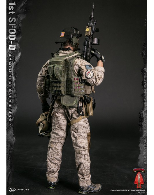 In-stock 1//6 Scale DAMTOYS 1st SFOD-D Combat Applications Group GUNNER 78074