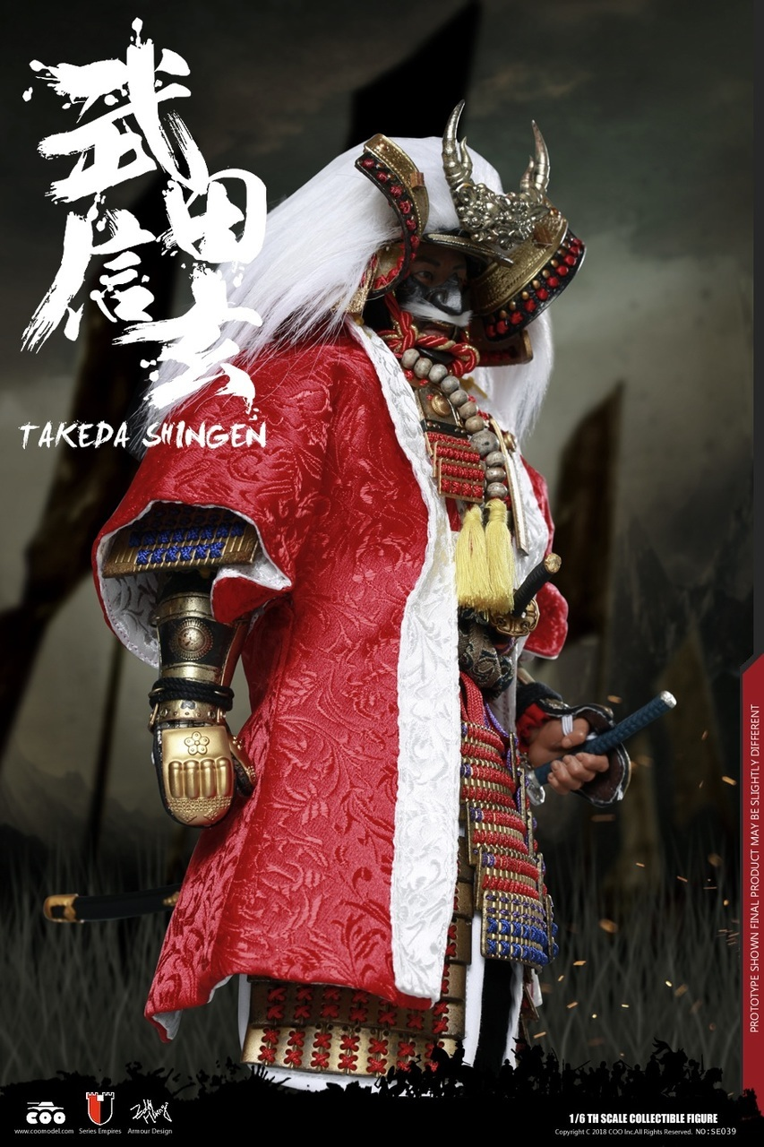 Coat for COOMODEL SE040 Takeda Shingen Tiger of Kai 1//6 Scale Action Figure