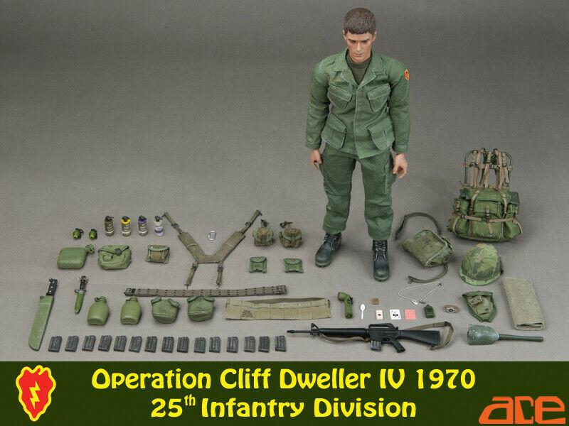 Cliff Dweller 25th Inf Div Head Sculpt ACE Nude Body