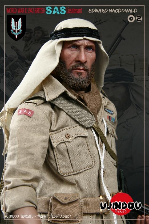 UJINDOU U9002 1//6 WWII British SAS Lieutenant EDWARD MACDONALD Belt Model