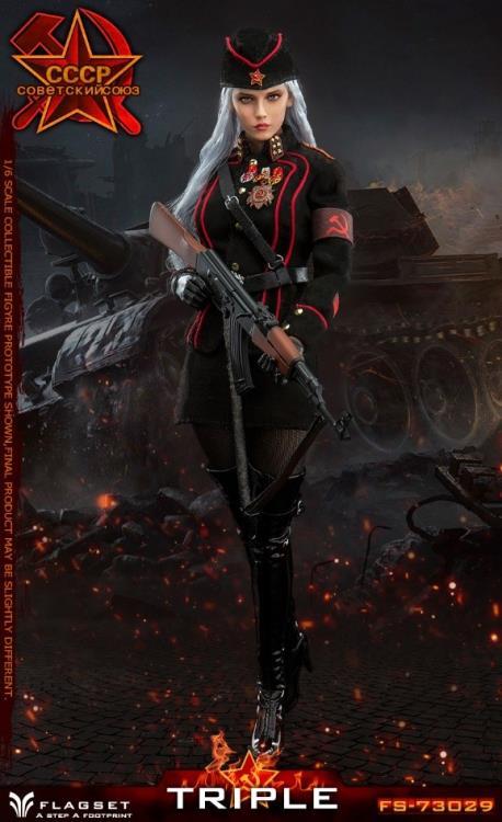 FLAGSET FS-73029 1//6 Red Alert Soviet Female Officer Katyusha Figure Stockings
