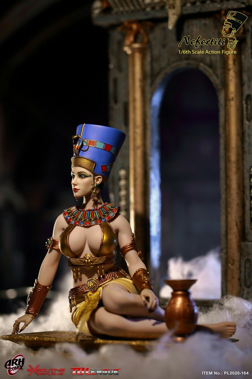 Skirt for TBLeague PL2020-164 Queen of Egypt Nefertiti 1//6th Scale Action Figure