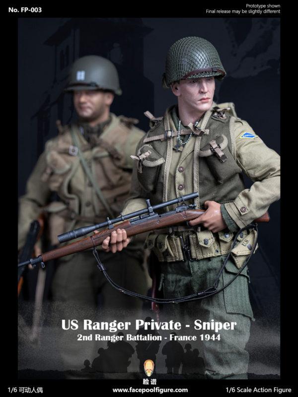 Facepool Figure: US Ranger Private Sniper